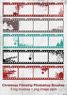 Film strip brushes for Christmas