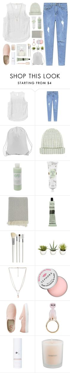 """Eyes Reload"" by eleanorcalder922 ❤ liked on Polyvore featuring Chicnova Fashion, Mario Badescu Skin Care, Tocca, Barneys New York, Aesop, Cath Kidston, Forever 21, Sephora Collection, Miss Selfridge and Swarovski"