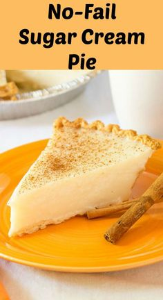 and creamy, easy to make no-fail Sugar Cream Pie that sets up every time. - Desserts -Rich and creamy, easy to make no-fail Sugar Cream Pie that sets up every time. Blueberry Cream Pies, Strawberry Cream Pies, Easy Pie Recipes, Cream Pie Recipes, Amish Sugar Cream Pie Recipe, Sweet Recipes, Custard Recipes, Copycat Recipes, Baking Recipes