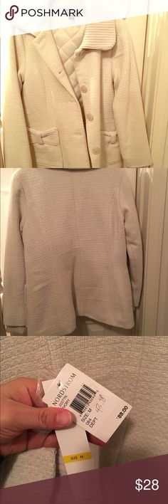 Women's Cream Colored Jacket / Coat by Coffeeshop This is a very cute and NWT jacket/coat that will keep you warm and fashionable! Perfect with jeans for a fun casual look. New from Nordstrom and never worn!! CoffeeShop Jackets & Coats