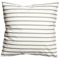 Striped Cushion Cover Accent Decorative 100% Cotton Canvas Stripe... (28 CAD) ❤ liked on Polyvore featuring home, home decor, throw pillows, grey throw pillows, white throw pillows, canvas home decor, gray home decor and gray accent pillows