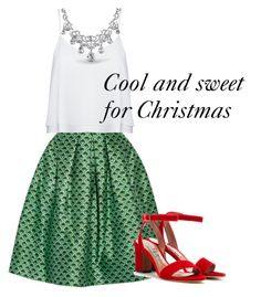 Christmas Day Style by julies-styling on Polyvore featuring polyvore, fashion, style, Alice + Olivia, Oscar de la Renta, Tabitha Simmons, Bling Jewelry and clothing