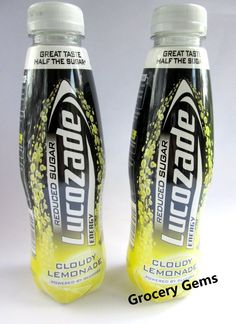 Lucozade Cloudy Lemonade Reduced Sugar