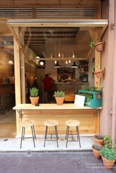 Small coffee shop design small cafe interior design ideas photos of Cafe Shop Design, Coffee Shop Interior Design, Small Cafe Design, Coffee Design, Deco Restaurant, Restaurant Design, Mini Cafe, Small Coffee Shop, Coffee Store