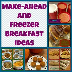 Running out the door in the morning? Warm up one of these make ahead and freeze breakfast meals. #makeaheadbrealfast #breakfast #freezermeals