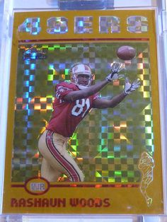 2004 Topps Chrome #210 RASHAUN WOODS XFractor Rookie Card RC #102/279 Encased MT #SanFrancisco49ers