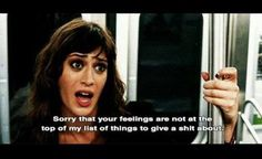 Lizzy Caplan in Bachelorette When you're having one of those days...