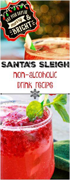 Santa's Sleigh Spritzer Mocktail Recipe - The Funny Mom Blog