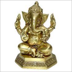 Ganesha Bronze Statues, Hindu Lord Ganesha, Brass Ganesh Handicrafts