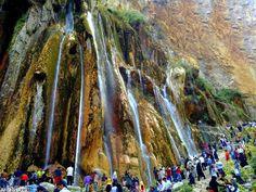 Margon sepidan waterfall in Fars, Iran