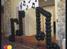 Decoração com notas musicais para aniversário   Decoração e Projetos