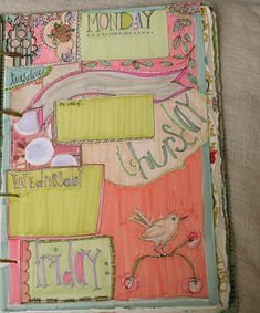 journal/calendar pages | inspired by Geninne D. Zlatkis' ama… | Flickr
