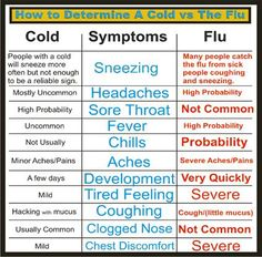 Diary Of A School Nurse: Cold or Flu