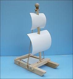 VELERO BLANCO PLAZA aparejador velero de juguete, juguete de madera barco, velero, barco de madera juguete, barco, juguete madera, herencia, catamarán de juguete de la piscina