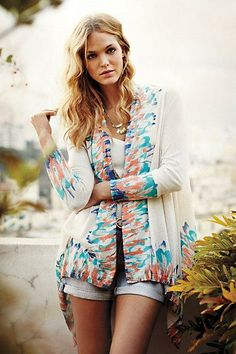 #Sapphire #Flame #Cardigan via #Anthropologie