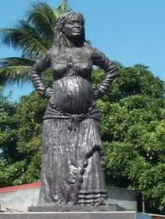 called Solitude , Mulatresse woman from Guadeloupe. she was a woman who fought along with other enslaved Africans against the French in 1802, while pregnant. she was later caught and hung after giving birth.