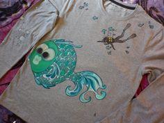 #pijama #pintadoamano #camisetaspintadas #pinturadetela #buceo susoleto