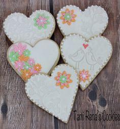Wedding, Anniversary or bridal shower cookies