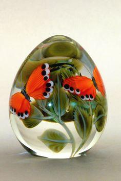 Butterflies & leaves - Orient & Flume Art Glass