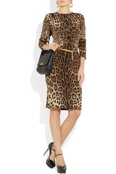 Dolce & GabbanaLeopard-print crepe dress