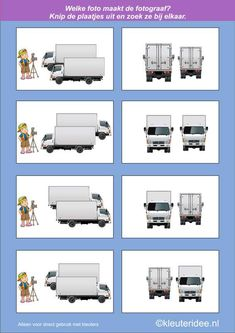 Which photo is the photographer 1 kleuteridee.nl, cognitive development and spatial awareness for children, free printable. Perspective Game, Montessori Math, Photography Themes, Math For Kids, Educational Games, Creative Thinking, Kids Education, Toddler Activities, Homeschool
