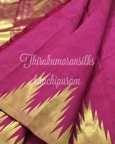 #evergreen #templeborder #kanjivarams,from #Thirukumaransilks,can reach us at +919842322992/WhatsApp or at thirukumaransilk@gmail.com for more collections and details