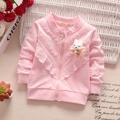 Cheap baby coat, Buy Quality coat fashion directly from China coat baby Suppliers: Girls Outerwear Baby Girl Zipper Cardigan 2017 Spring Fashion Cotton Coat Baby Kids Long Sleeve Lace Candy Color Cute Coat Fashion Kids, Fashion Design For Kids, Spring Fashion, Dress Anak, Baby Dress Design, Baby Coat, Frocks For Girls, Baby Girl Dresses, Baby Sewing