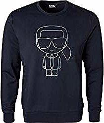 Karl Lagerfeld Pullover Herren Baumwolle Blau Karl Lagerfeldkarl Lagerfeld In 2020 Graphic Sweatshirt Fashion Sweatshirts