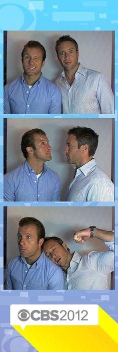 Det. Daniel 'Danno' Williams & Lt. Com. Steven 'Steve' McGarret of Hawaii Five-0 2010. THEY'RE ADORABLE AND I LOVE THEM. :3