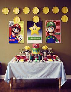 idei super mario bros top 20 Ideas About Mario Birthday Party Super Mario Party, Super Mario Birthday, Mario Birthday Party, Cake Birthday, Mario Party Games, Flower Birthday, 5th Birthday, Super Mario Cake, Birthday Games