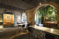 """La Bona Sort"" tapa's restaurant is sited in an old manor house documented since the sixteenth century; a large ashlar work frontage that overlooks Carders street, the old road from Barcelona to the Vallès county. Because of..."