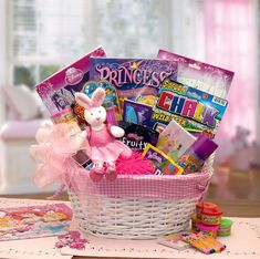 An enchanting gift for the little princess in your life. Send her the magic of a Disney Princess today. The A Little Disney Princess Gift Basket includes: Fabric lined basket, plush ballerina bunny, D