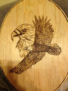 Eagle wood burning