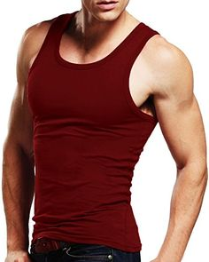 442fb552f MODCHOK Men's Tank Top Sleeveless T-Shirts Muscle Cotton A-Shirt Classic Tee  Review