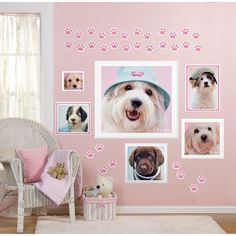 Rachaelhale Glamour Dogs Giant Wall Decals, Multicolor