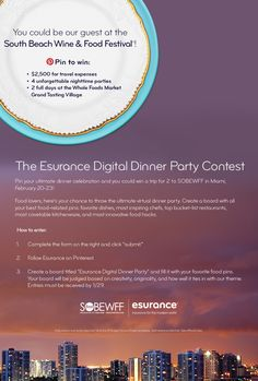Pin 2 Win Facebook Giveaway Dinner Themes Instant Games Recipe Ideas