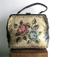1960s Floral Embroidered Purse, $37, now featured on Fab.