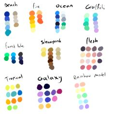 Free To Use Color Pallettes by ShadowInkAdopts.deviantart.com on @deviantART
