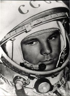 Yuri Gagarin was born near Moscow, Russia on March 9, 1934. He became the first human in space on April 12, 1961.