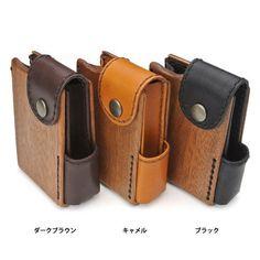 Wood & leather combo idea (originally cigarette soft-pack holder)