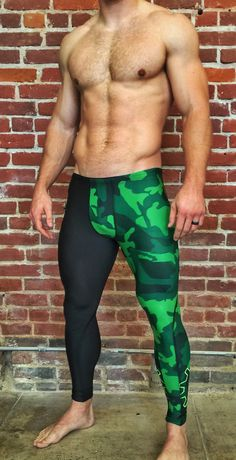 Men's Camo Full Length Compression Pant