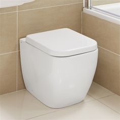 Lauren Back to Wall Toilet - £259 http://www.bathroomheaven.com/back-to-wall-toilets/lauren-back-to-wall-wc-with-quick-release-soft-close-seat-13929.aspx