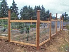 Galvanized cattle panel fence with rebar top to enclose a garden and keep deer out.