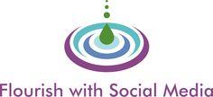 Flourish With Social Media Logo Social Media Logos, Flourish, Company Logo
