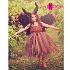 Moors Fairy Tutu Dress Costume, Inspired by Young Maleficent, Lace Tutu Dress, Sleeping Beauty, Woodland Fairy, Halloween Costume, Cosplay by jujustutus on Etsy https://www.etsy.com/listing/200082719/moors-fairy-tutu-dress-costume-inspired