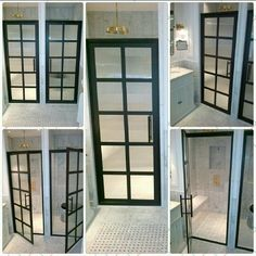 Billedresultat for steel framed shower doors