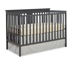 Stork Craft Mission Ridge Fixed Side Convertible Crib, Gray - http://activelivingessentials.com/baby-essentials/baby-cribs/stork-craft-mission-ridge-fixed-side-convertible-crib-gray