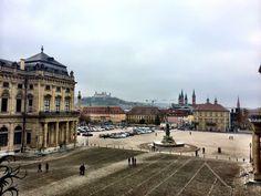 View of Würzburg from the Würzburg Residenz Würzburg, Germany