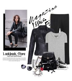 """""""Black backpack."""" by yexyka ❤ liked on Polyvore featuring rag & bone and Converse"""