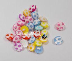 botones pelotas fútbol surtido colores